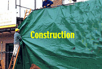 Tarpaulin Fabric for Construction.