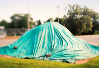 HDPE Tarpaulin Fabrics Covers for oil Wells and Mining Drill Holes.